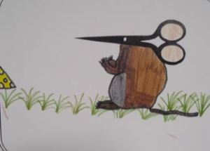 This little mouse is one example of how the page was put to use creatively.